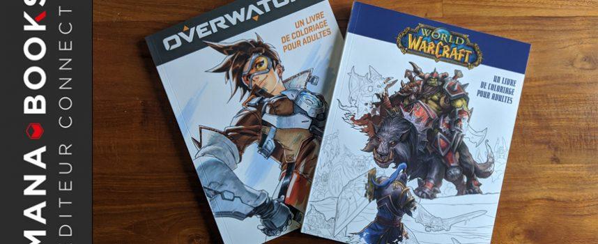Avis sur Overwatch et World Of Warcraft, des livres de coloriage pour adultes | Mana Books