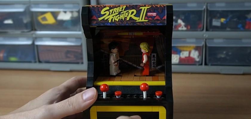 Une borne Arcade Street Fighter II en Lego «jouable»