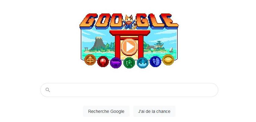 Google, un nouveau doodle pour les JO de Tokyo.